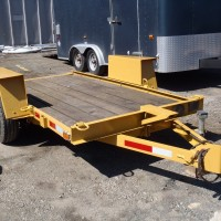 Small Excavating Construction Trailer