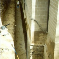 Waterproofing and foundation excavating project